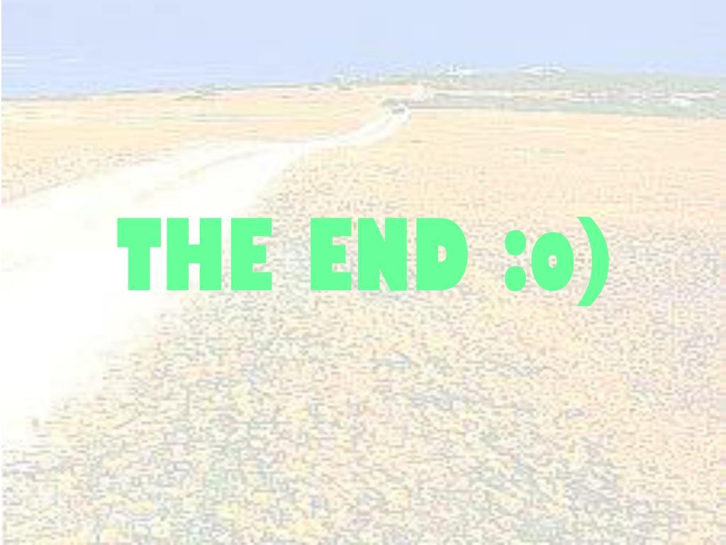 THE END :o)