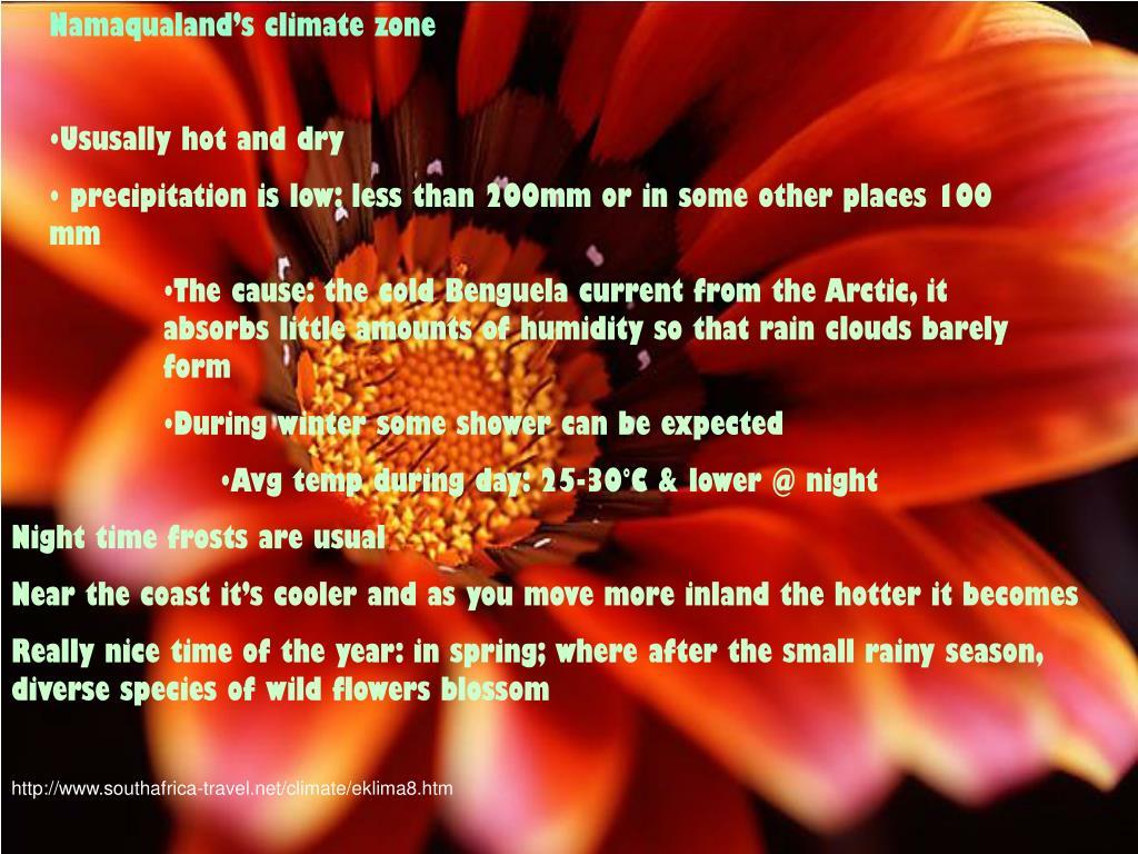 Namaqualand's climate zone