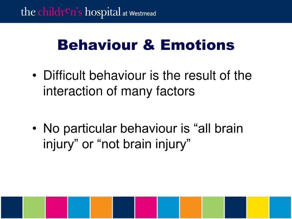 Behaviour & Emotions