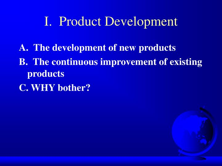 I product development
