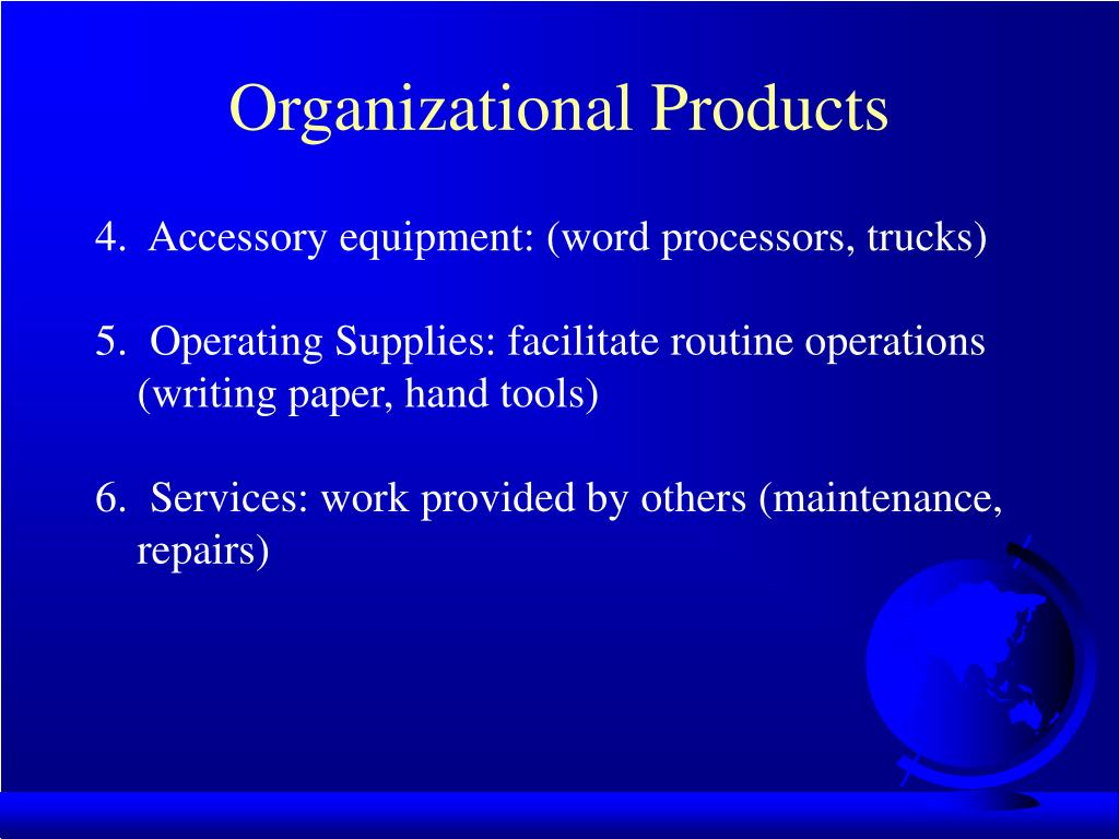 Organizational Products