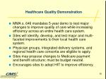 healthcare quality demonstration