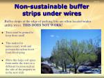 non sustainable buffer strips under wires