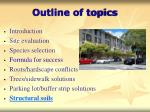 outline of topics