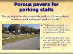 porous pavers for parking stalls