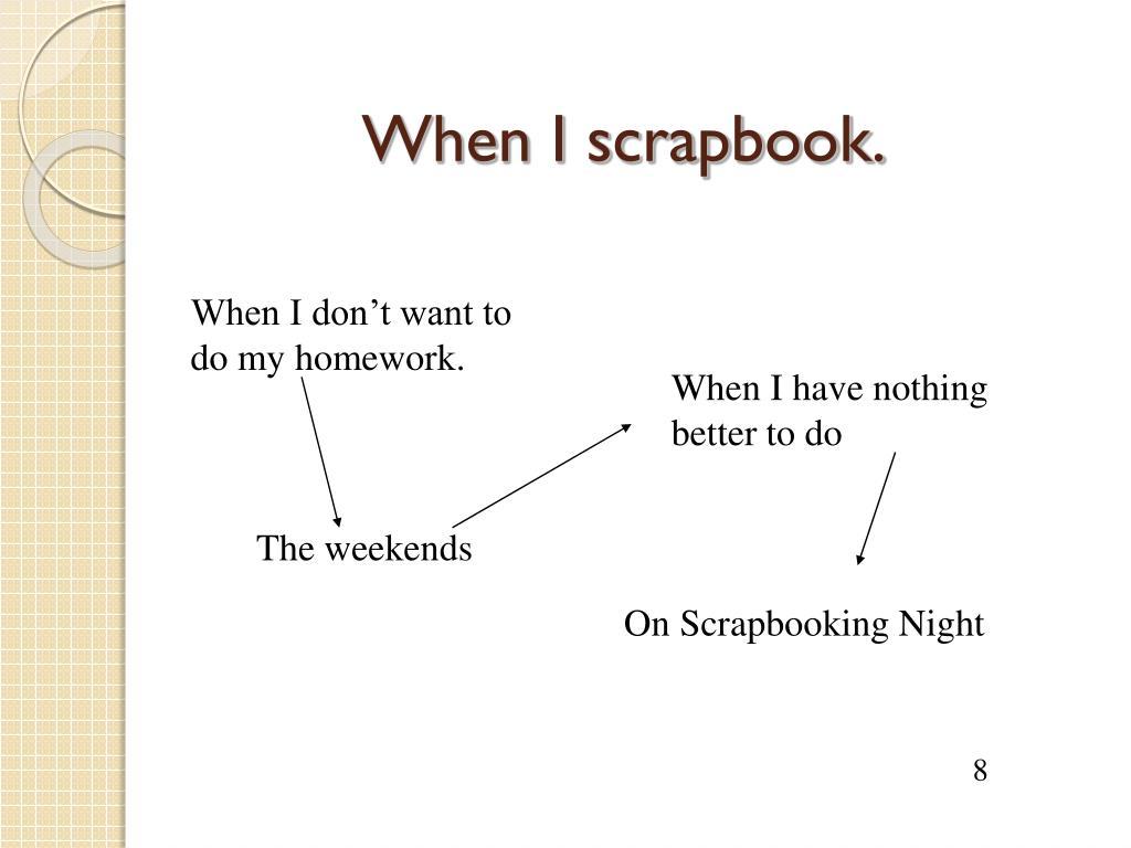 When I scrapbook.