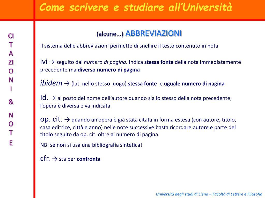 Ppt Come Scrivere E Studiare All Università Powerpoint