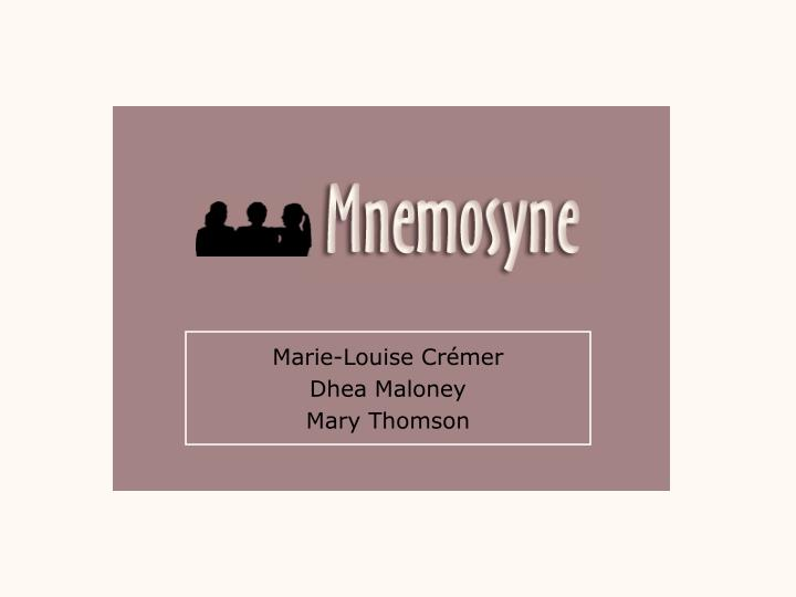 Marie louise cr mer dhea maloney mary thomson