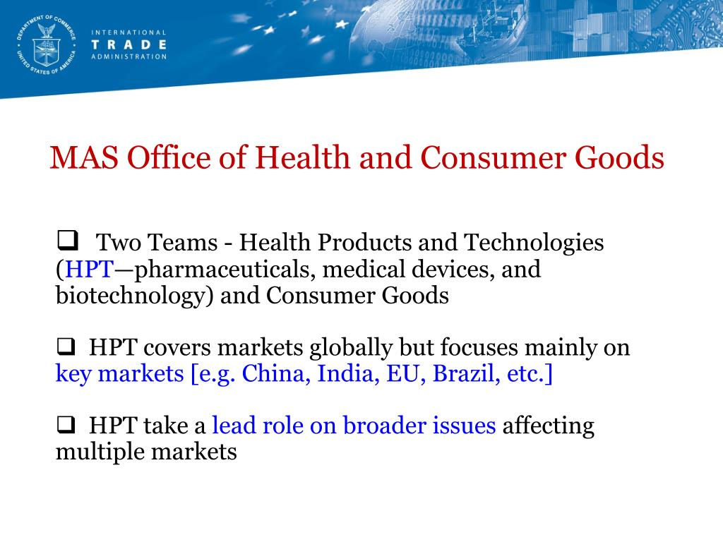 MAS Office of Health and Consumer Goods
