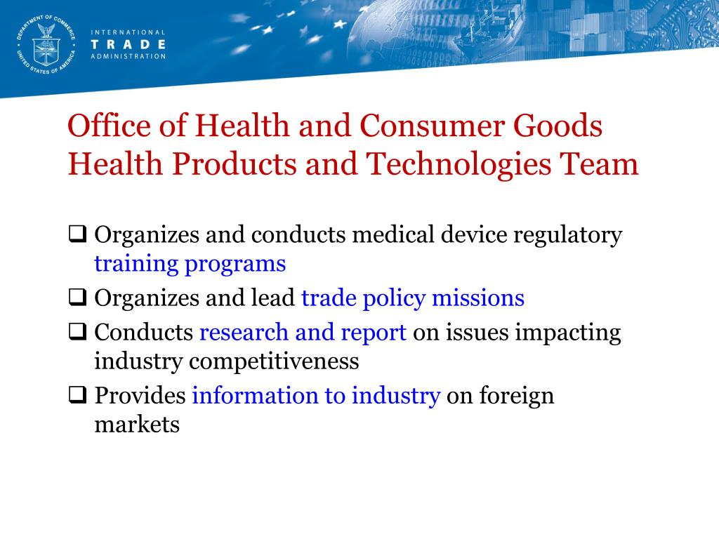 Office of Health and Consumer Goods