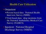 health care utilization