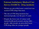 national ambulatory medical care survey namcs drug mentions