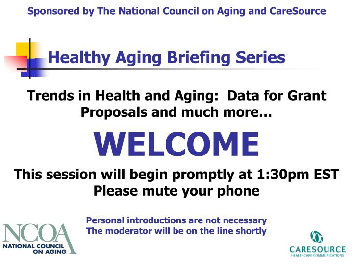Sponsored by The National Council on Aging and CareSource