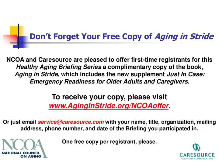 Don't Forget Your Free Copy of