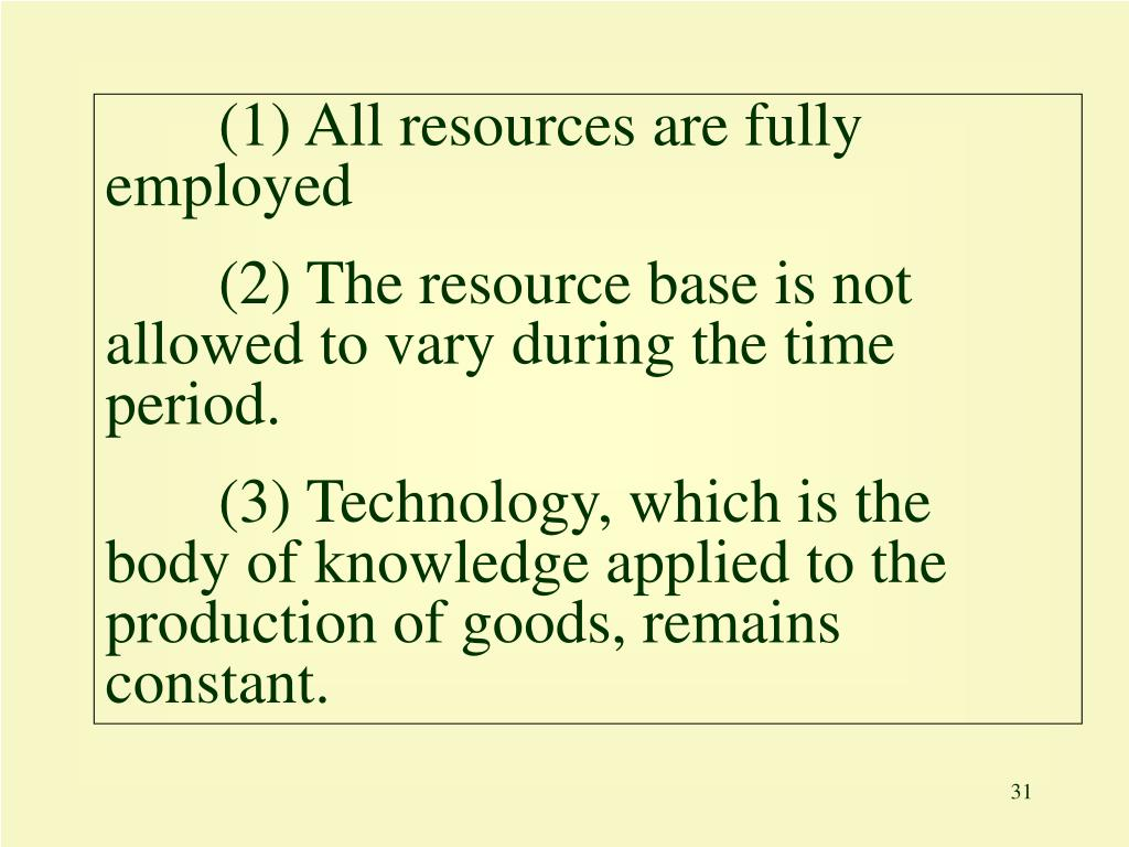 (1) All resources are fully employed
