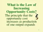 what is the law of increasing opportunity costs