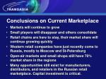 conclusions on current marketplace