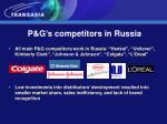 p g s competitors in russia