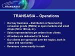 transasia operations
