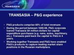 transasia p g experience