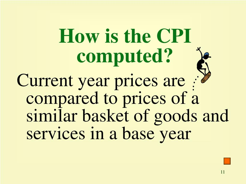 How is the CPI computed?