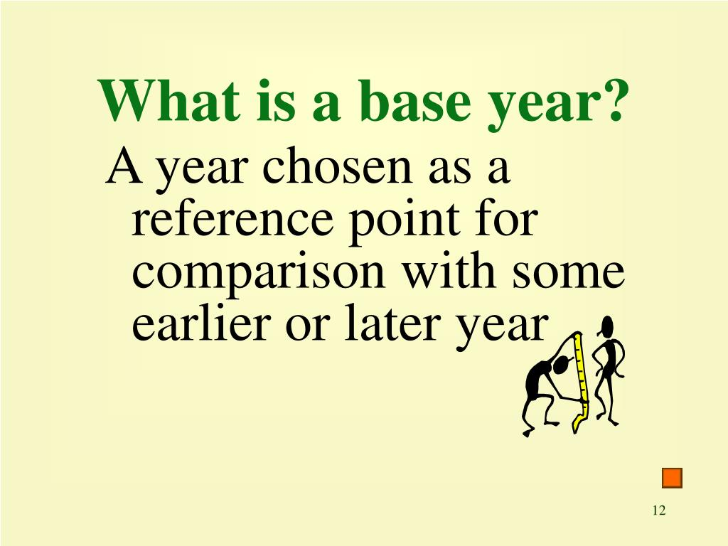 What is a base year?