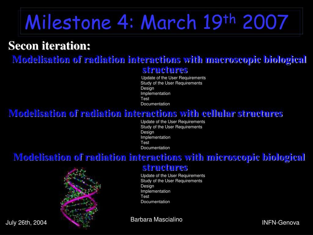 Milestone 4: March 19