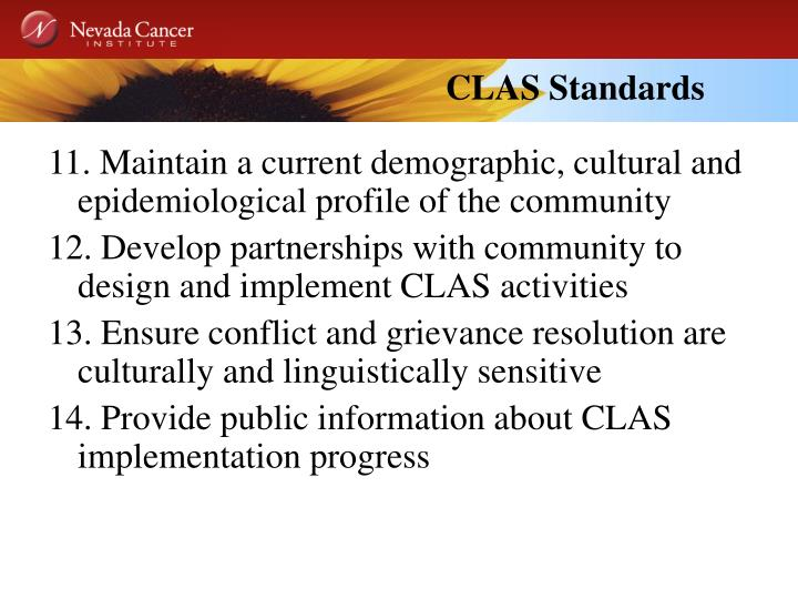 CLAS Standards