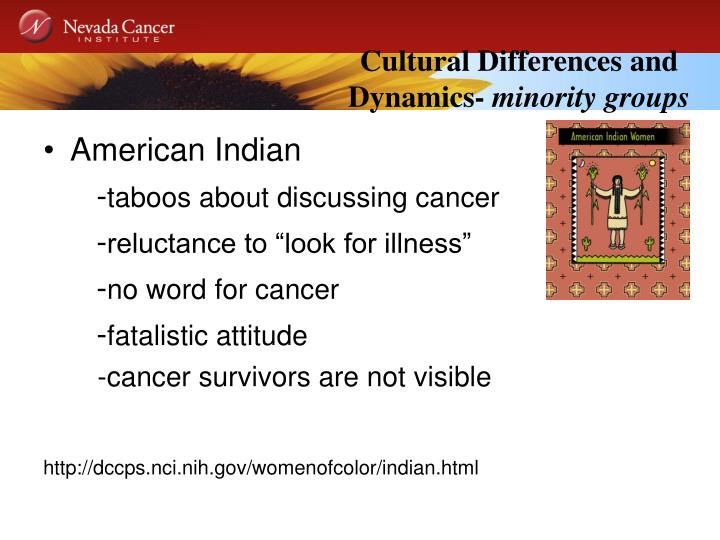Cultural Differences and Dynamics-