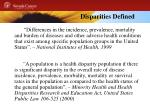 disparities defined