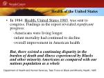 health of the united states