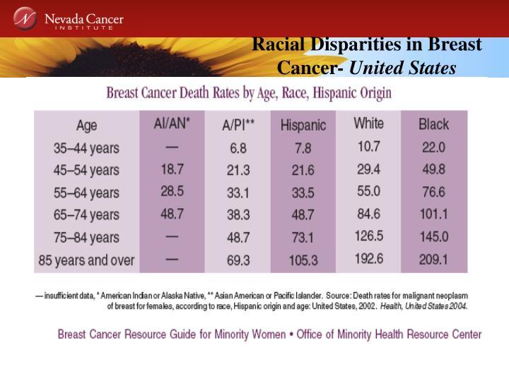 Racial Disparities in Breast Cancer-