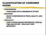 classification of consumer goods21