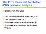the pitta improved cornholder pic economic analysis