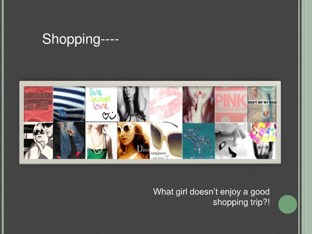 Shopping----