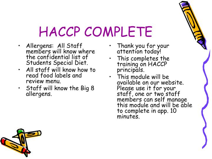 ppt - haccp training powerpoint presentation
