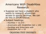 americans with disabilities research