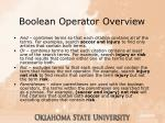 boolean operator overview