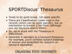 sportdiscus thesaurus