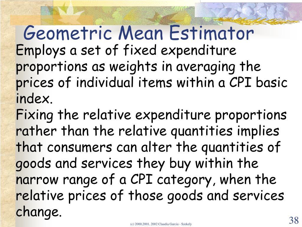 Geometric Mean Estimator