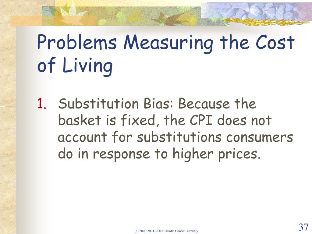 Problems Measuring the Cost of Living