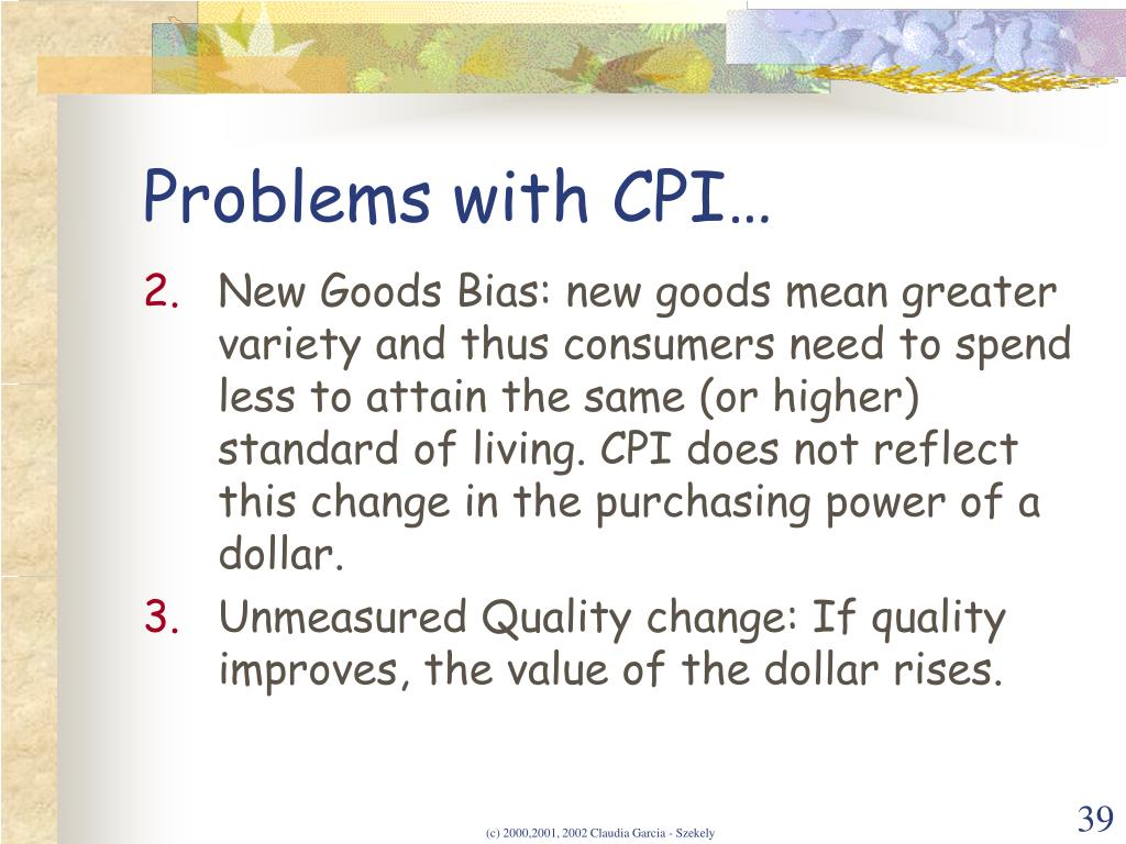 Problems with CPI…