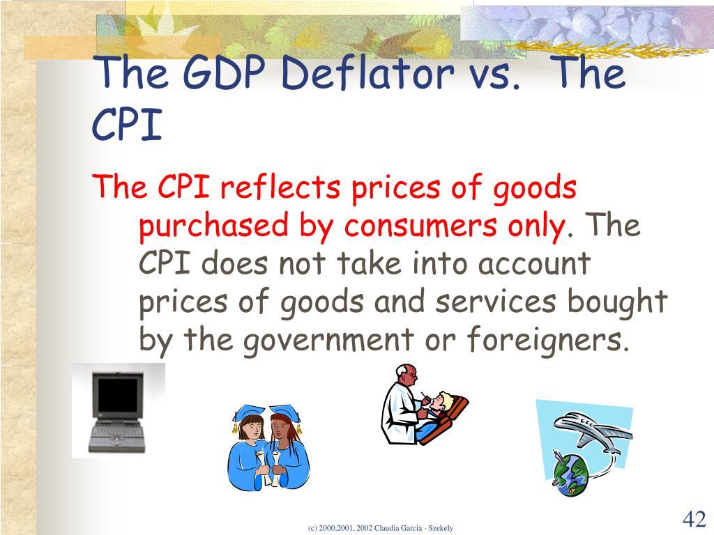 The GDP Deflator vs.  The CPI