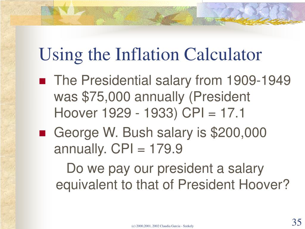 Using the Inflation Calculator