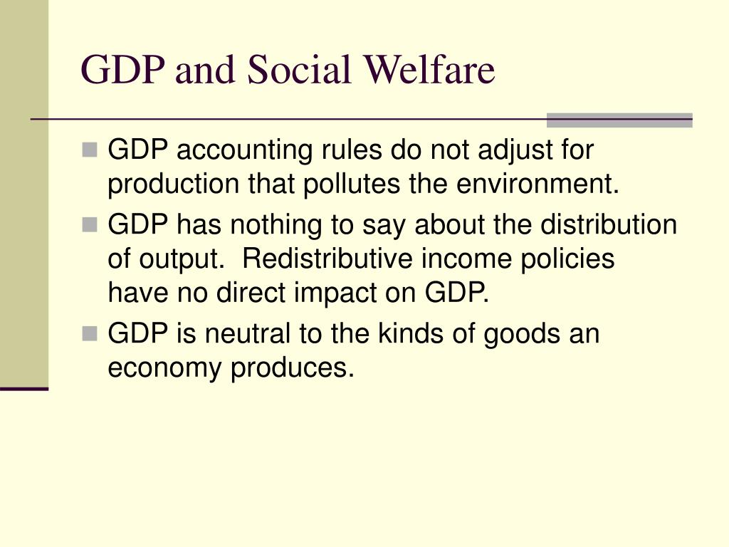 GDP and Social Welfare