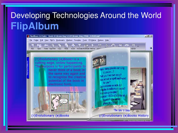 Developing technologies around the world flipalbum