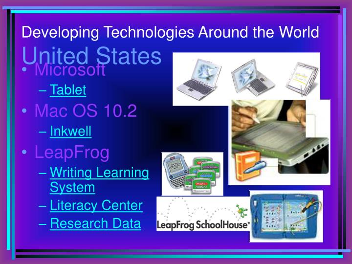 Developing Technologies Around the World