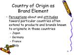 country of origin as brand element26