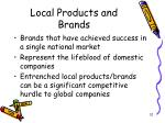 local products and brands