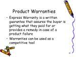 product warranties